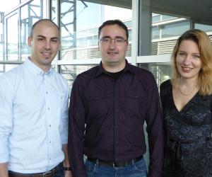 Das Team von Onlim entwickelte das Dacodi Systems.V.l.n.r.: Corneliu Stanciu, CTO - Chief Technology Officer,Dr. Ioan Toma, CEO - Chief Executive Officer,Dr. Anna Fensel, CSO - Chief Scientific Officer.